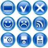 Fije el icono #13 azul. Imágenes de archivo libres de regalías
