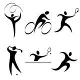 Fije el icono de los deportes Imagen de archivo libre de regalías
