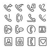 Fije el icono del teléfono stock de ilustración