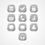 Fije el icono del web del concepto Imagen de archivo