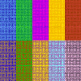 Fije el modelo del color modelo de 10 vectores Stock de ilustración