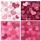 Fije el `s de la tarjeta del día de San Valentín inconsútil. Imagen de archivo