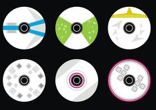 Fije el vector cd Imagen de archivo