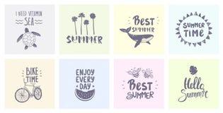 Fije el verano Imagen de archivo libre de regalías