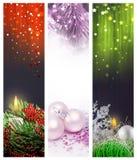 Fije el Web de las banderas de la Navidad Fotos de archivo libres de regalías