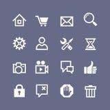 Fije 16 iconos básicos del Web libre illustration