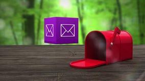 Fije la abertura de la caja para mostrar en el icono del correo electrónico