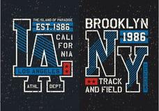 Fije la camiseta del diseño de la tipografía gráfica Imagen de archivo