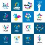 Fije la familia de los logotipos libre illustration