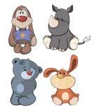 Fije la historieta de los juguetes Imagen de archivo