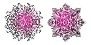 Fije la mandala del ornamento Elementos decorativos étnicos Foto de archivo libre de regalías