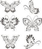Fije la mariposa del tatuaje ilustración del vector
