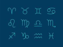 Fije la muestra del zodiaco ilustración del vector