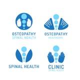 Fije la osteopatía del logotipo libre illustration