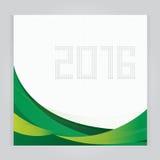 Fije la plantilla del diseño del vector del calendario 2016 La semana comienza verde Imagen de archivo