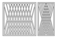 Fije la plantilla para cortar Línea cuadrada modelo de la diagonal Cu del laser stock de ilustración