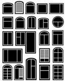 Fije la silueta de la ventana libre illustration
