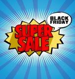 Fije la tira de las etiquetas engomadas y de las etiquetas de la venta de Black Friday Imagen de archivo