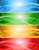 Fije las banderas de la tecnología Imagenes de archivo