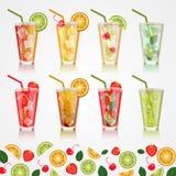 Fije las bebidas alcohólicas Vector Fotografía de archivo libre de regalías