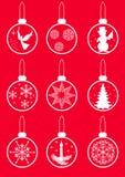 Fije las bolas de la Navidad. Imágenes de archivo libres de regalías