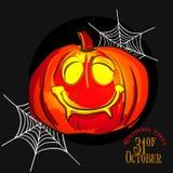 Fije las calabazas para el vector de Halloween Foto de archivo libre de regalías
