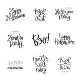 Fije las citas en Halloween imagenes de archivo