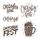 Fije las citas para Oktoberfest ilustración del vector