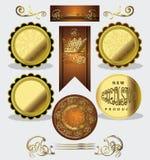 Fije las etiquetas de lujo Fotografía de archivo libre de regalías