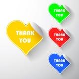 Fije las etiquetas engomadas del corazón Imagen de archivo libre de regalías