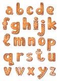 Fije las letras A a Z de la galleta Imagen de archivo