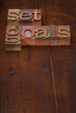 Fije las metas Imagen de archivo libre de regalías