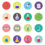 Fije las sustancias químicas del icono libre illustration