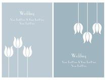 Fije las tarjetas de la invitación de la boda Imágenes de archivo libres de regalías