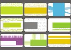 Fije las tarjetas de visita Imágenes de archivo libres de regalías