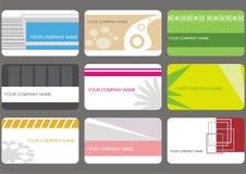 Fije las tarjetas de visita Imagen de archivo libre de regalías