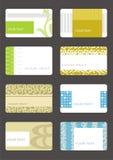 Fije las tarjetas de visita Fotos de archivo