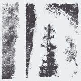 Fije las texturas del tono medio del grunge Foto de archivo libre de regalías