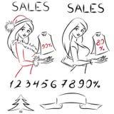 Fije las ventas ilustración del vector