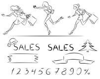 Fije las ventas y las compras stock de ilustración