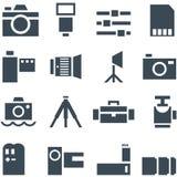 Fije los accesorios de la foto de los iconos del vector. Fotografía de archivo libre de regalías