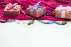 Fije los accesorios para la compra de la moda de las mujeres Imagen de archivo libre de regalías