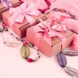Fije los accesorios para la compra de la moda de las mujeres Imágenes de archivo libres de regalías