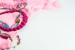 Fije los accesorios para la compra de la moda de las mujeres Imagen de archivo