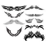 Fije los bosquejos de alas Foto de archivo libre de regalías