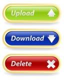 Fije los botones Fotos de archivo libres de regalías