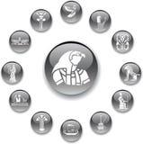 Fije los botones - 96_A. Egipto stock de ilustración
