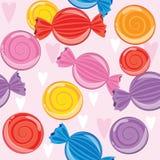 Fije los caramelos de diversos colores Textura Imagen de archivo libre de regalías