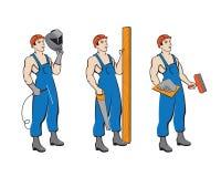 Fije los constructores ilustración del vector