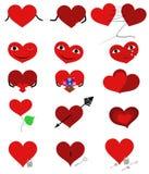 Fije los corazones stock de ilustración